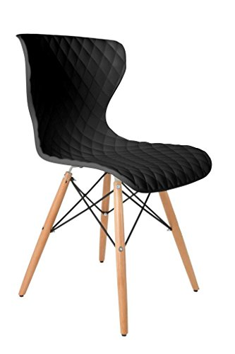 2er Set Stuhl CROW BEECH Esszimmerstuhl in schwarz