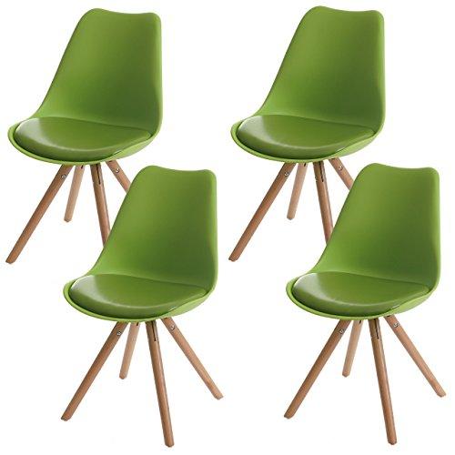 4x esszimmerstuhl malm t501 retro design gr n for Stuhl 4 beine