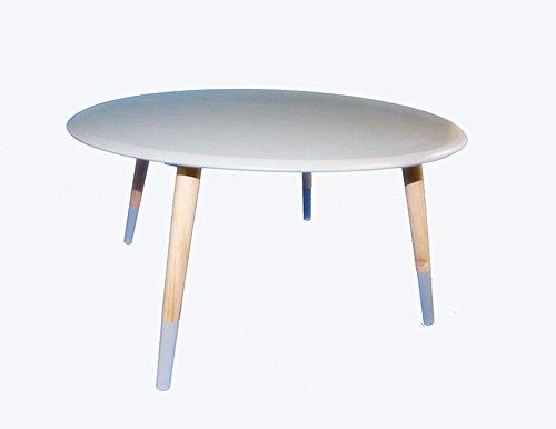 beistelltisch couchtisch rund 70 weiss grau 1530652 grau. Black Bedroom Furniture Sets. Home Design Ideas