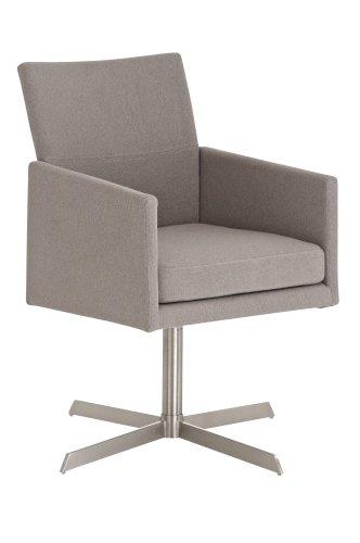 CLP Edelstahl Clubsessel / Lounge-Sessel CUBIC mit Stoffbezug, aus bis zu 4 Farben wählen grau