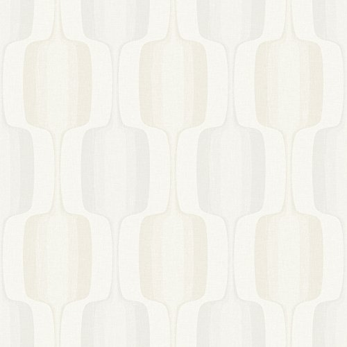 Decorama 4144 Vlies-Tapete 70er Jahre Retro Block beige