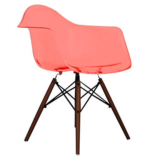 ghost red eames style daw chair with walnut legs retro stuhl. Black Bedroom Furniture Sets. Home Design Ideas