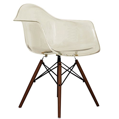 ghost smoke eames style daw chair with walnut legs retro stuhl. Black Bedroom Furniture Sets. Home Design Ideas
