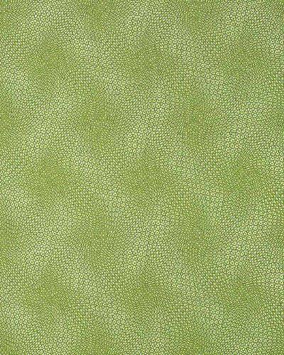 Grafik Tapete EDEM 064-25 Retro-Muster 70er grafische Relief-Oberfläche 3D Grid-Optik Kiwi-grün silber