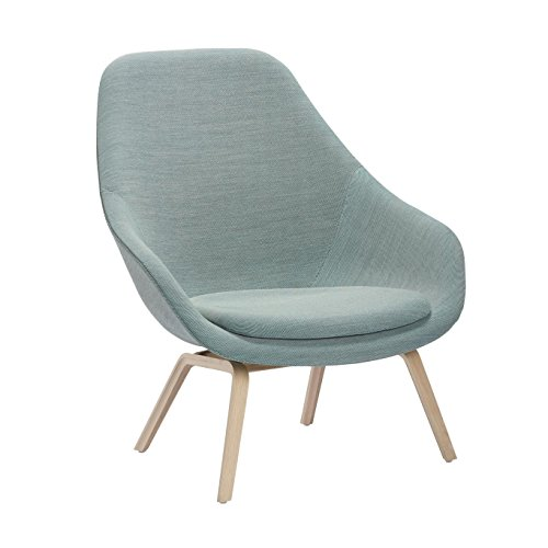 Hay About A Lounge Chair Aal93 Sessel Turkis Stoff Steelcut Trio 815 Gestell Eiche Geseift Inkl Sitzkissen