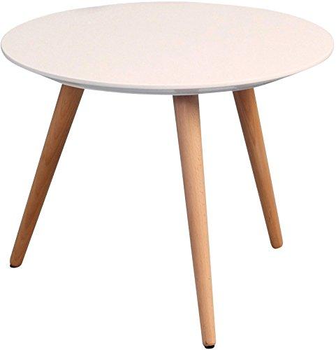 hometrends4you 172926 couchtisch h he 36 cm durchmesser 50 cm wei matt retro stuhl. Black Bedroom Furniture Sets. Home Design Ideas