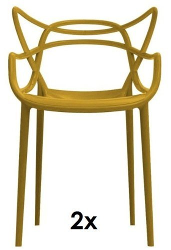 Kartell Masters 2 X Stapelstuehle Senfgelb Von Philippe Starck Zum  Set Preis 5865 16