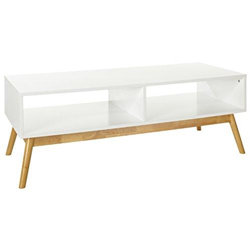 LOMOS® No.12 TV-/Lowboard aus Holz in weiß mit zwei Fächern im modernen skandinavischen Design