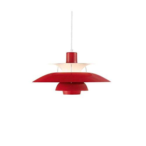 Louis Poulsen - PH 50 Hängeleuchte - chilirot - Poul Henningsen - Design - Deckenleuchte - Pendelleuchte - Wohnzimmerleuchte