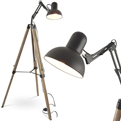 mojo stehleuchte tripod stehlampe urban industrial design lampe l41 retro stuhl. Black Bedroom Furniture Sets. Home Design Ideas