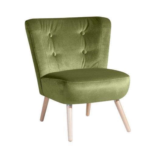 max winzer retro sessel neele in samtigen veloursstoff oliv 2693 1100 2044229 retro stuhl. Black Bedroom Furniture Sets. Home Design Ideas