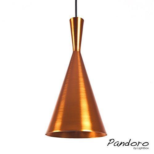 Pandoro Pendelleuchte Im Modernen Design, 1x E27 Max. 40W, Metall (Kupfer /