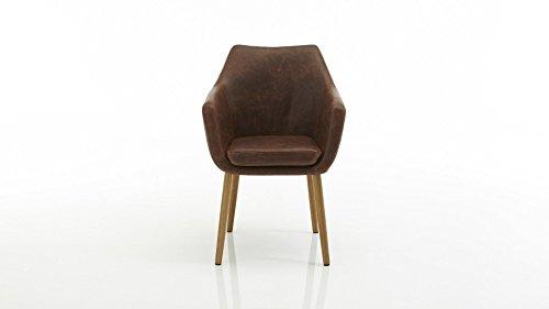 RETRO Sessel Esszimmerstuhl Polsterstuhl Lehnenstuhl Armlehne Design Armsessel Esszimmerstuhl Küchensessel Relaxsessel günstig