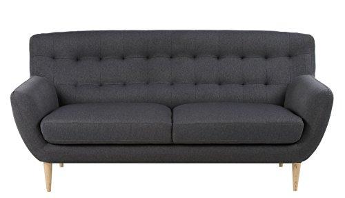 Retro Sofa Absalon Oswald 3-Sitzer Dunkelgrau