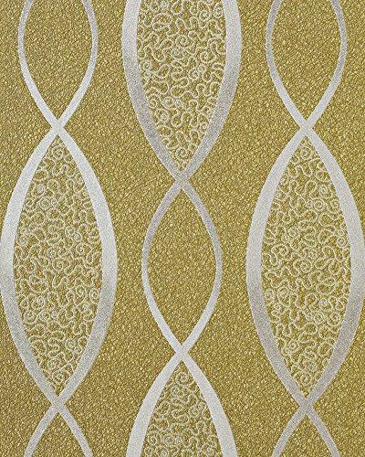 retro tapete edem 1018 15 retrotapete geschwungene linien mit ornamenten 70er retro style dezent. Black Bedroom Furniture Sets. Home Design Ideas