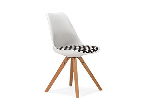 massivum Stuhl California 49x83x53 cm Kunststoff weiß