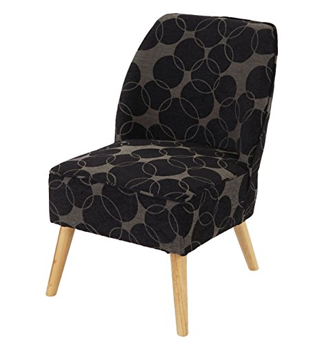 Sessel Malmö T312, Loungesessel Polstersessel, Retro 50er Jahre Design ~ grau/schwarz, Textil