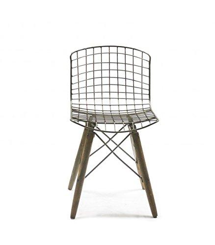 stuhl design draht und f e aus holz retro. Black Bedroom Furniture Sets. Home Design Ideas