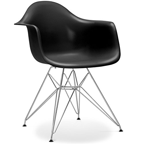 stuhl eames dar stil schwarz retro stuhl. Black Bedroom Furniture Sets. Home Design Ideas