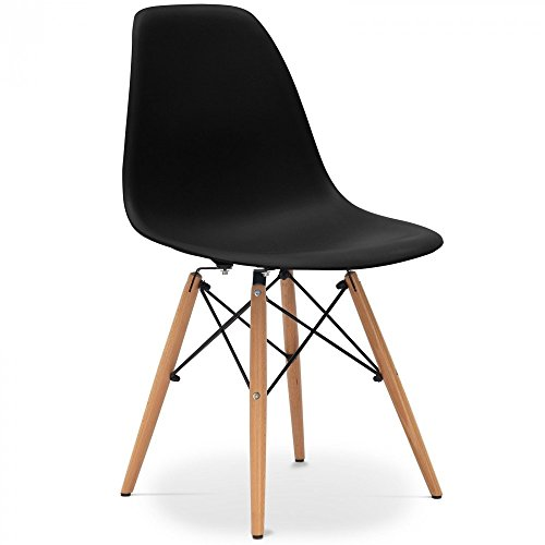 stuhl eames dsw style inspiration charles eames schwarz 53 5 x cm 46 5 x cm 81 5 cm. Black Bedroom Furniture Sets. Home Design Ideas