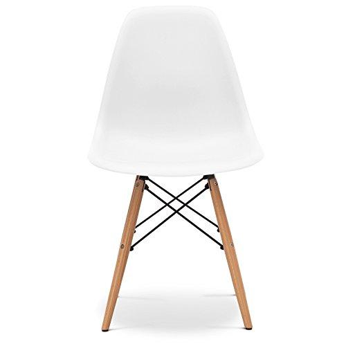 Stuhl Eames DSW Stil Weiß