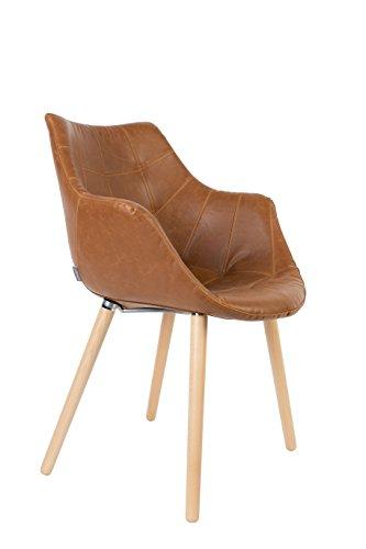 Stuhl Polsterstuhl Twelve Vintage Braun Von Zuiver Retro Stuhl
