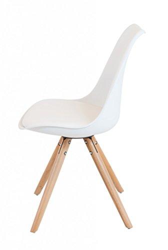 Stuhl SCANDINAVIA Loungestuhl mit Schalensitz in schwarz oder weiß, Farbe:Weiss