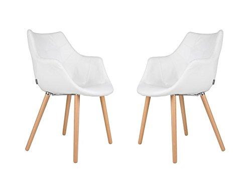 TWELVE Sessel Wohnzimmer 2er Set Zuiver Kunstleder Weiß
