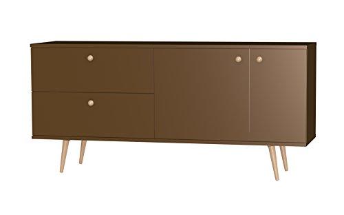Tenzo 1114-088 Haze Designer Sideboard, 75 x 160 x 43 cm, bronze / eiche