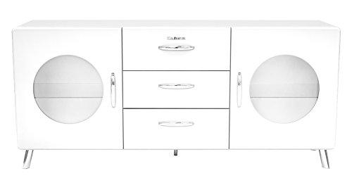 Tenzo 4933-001 Cobra Designer Sideboard, 73 x 163 x 43 cm, MDF lackiert, weiß