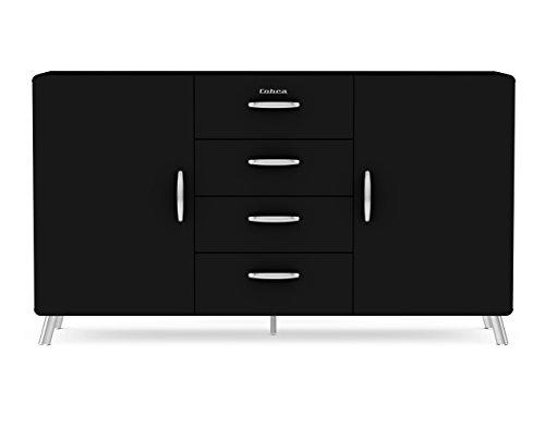 Tenzo 4936-024 Cobra Designer Sideboard, 92 x 163 x 43 cm, MDF lackiert, schwarz