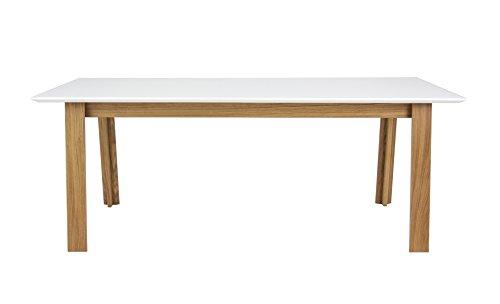 Tenzo 5961-454 Profil Designer Esstisch, 75 x 180 x 95 cm, weiß / eiche