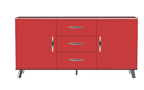 Tenzo 6545-028 View  Designer Sideboard, 72 x 145 x 40 cm, rot