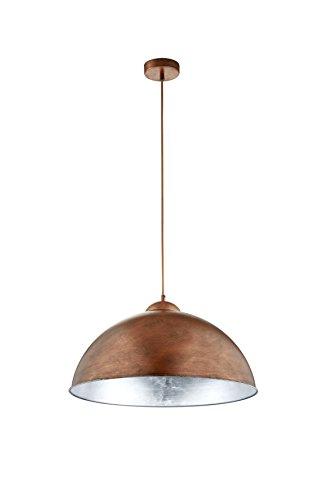 Trio Leuchten LED-Pendel Romino in Kupfer antik, innen silberfarbig 308000162