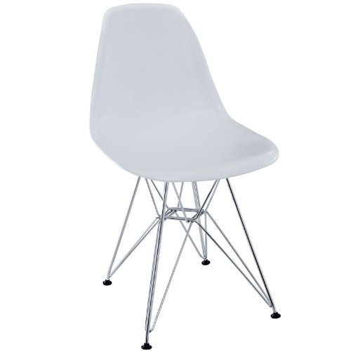 White Charles Ray Eames Eiffel Dining Side Chair FMP251310 by Fulmens