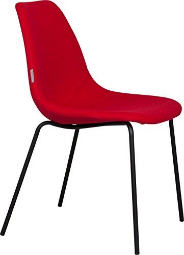 Zuiver 1100206Fifteen Up Esszimmerstühle 2Stück schwarz/rot 57x 46x 83cm