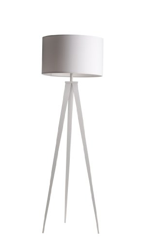 Zuiver 5000802 Floor Lamp Tripod, Metall, weiß