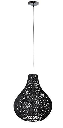 Zuiver 5002804 Pendant Lamp Cable Drop Textur, schwarz