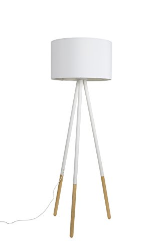 Zuiver 5100036 Floor Lamp Highland, Metall, weiß