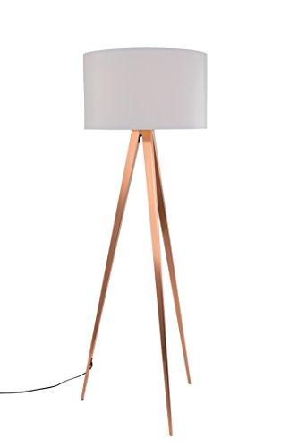 Zuiver 5100054 Floor Lamp Tripod, Kupfer, weiß