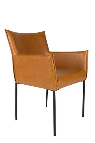 Armlehnen-Stuhl Dion cognac - (1200121)