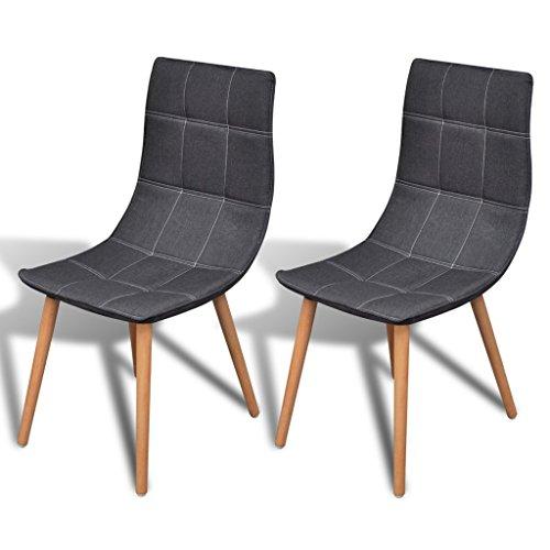 vidaXL 2 x Esszimmerstuhl Küchenstuhl Essstuhl Essgruppe Stuhlgruppe Stühle