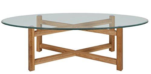 Ac Design Furniture Couchtisch Oval Mit Glasplatte Gestell Aus