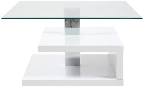 ac design furniture h000015092 couchtisch lewi klarglasplatte ca 78 x 43 x 78 cm wei. Black Bedroom Furniture Sets. Home Design Ideas