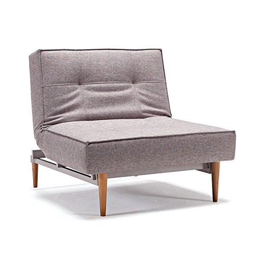 Innovation Klappsessel mit hellen Holzbeinen Splitback Styletto Light Wood Textil grau
