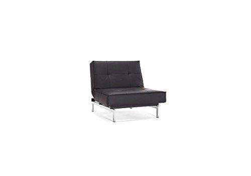 Innovation - Splitback Sessel - schwarz - Kunstleder - Ulme hell, zylindrisch - Per Weiss - Design - Sessel