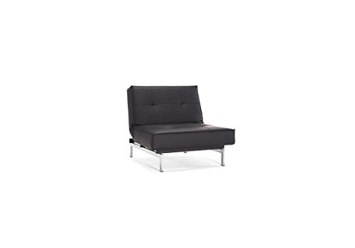 innovation splitback sessel schwarz kunstleder chrom per weiss design sessel. Black Bedroom Furniture Sets. Home Design Ideas