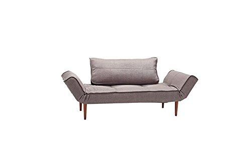 Innovation - Zeal Schlafsofa - taubengrau - Eiche lackiert, gebogen - Per Weiss - Design - Sofa
