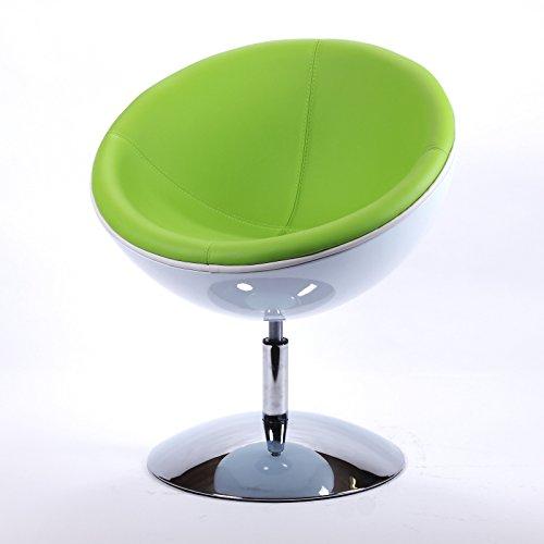 designer schalensessel retro m bel lounge cocktailsessel bequem gepolstert c13 wei gr n retro. Black Bedroom Furniture Sets. Home Design Ideas