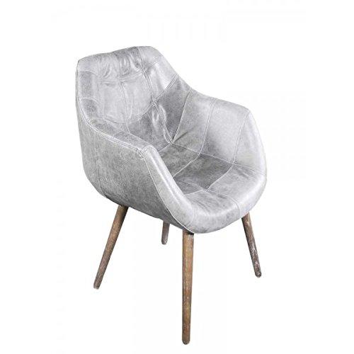 design schalensessel chuck grey vintage leder grau retro stuhl. Black Bedroom Furniture Sets. Home Design Ideas